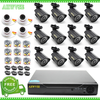 Free Shipping Home Security CCTV System 16 Channel AHD 1080P Camera 2MP Video Surveillance 16CH