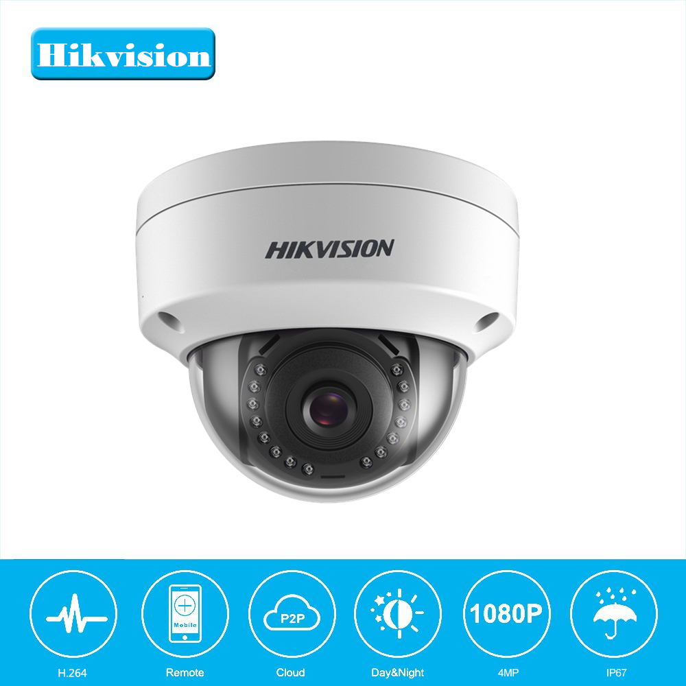In Stock Hikvision 1080P Security Dome Camera Onvif DS-2CD1141-I 4MP PoE CCTV Camera Replace DS-2CD2145F-IS H.264+ IP67 IK10 in stock english version ds 2cd2142fwd i support h 264 ip66 ik10 poe 4mp wdr fixed dome network camera