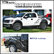 mudslinger  body rear tail side graphic vinyl decalsbody decals for Ford FORD F150 RAPTOR 2009 -2014 KK