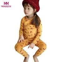High Quality Kid Baby Boy Girl Fox Animal Print Long Sleeve Shirt Tops Pants Home Pajamas