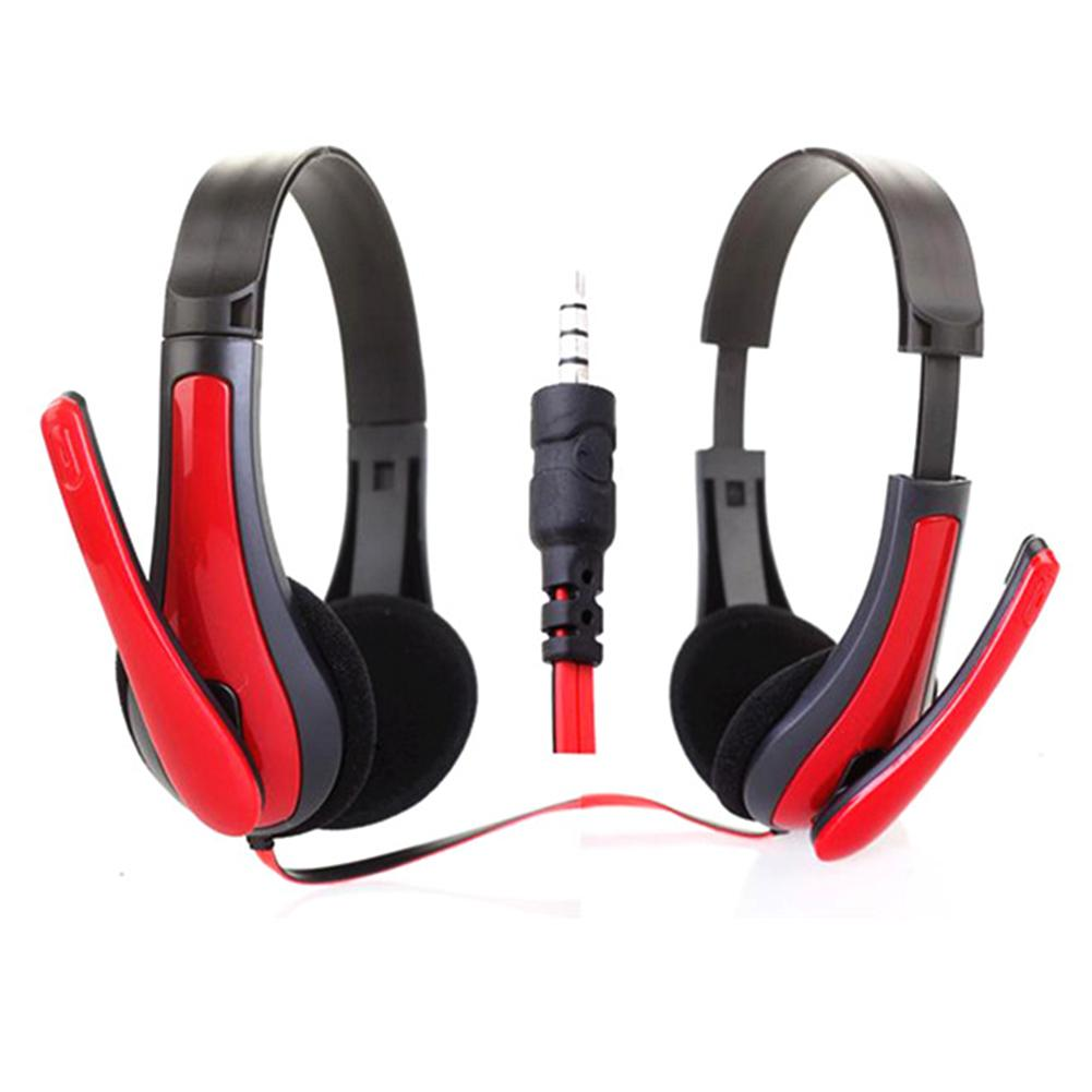 Consumer Electronics 2018 Hottest Jm-472 Universal Computer Laptop Pc Headphone Ergonomic Design 3.5mm Wired Playing Game Headset Red/blue
