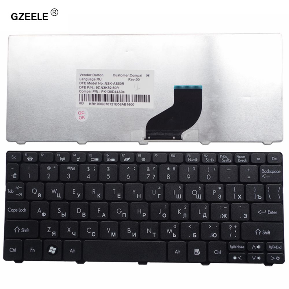 GZEELE RU NEW Laptop Keyboard For Acer EMachines 350 355 EM350 EM355 D271 Replacement Keyboards RU