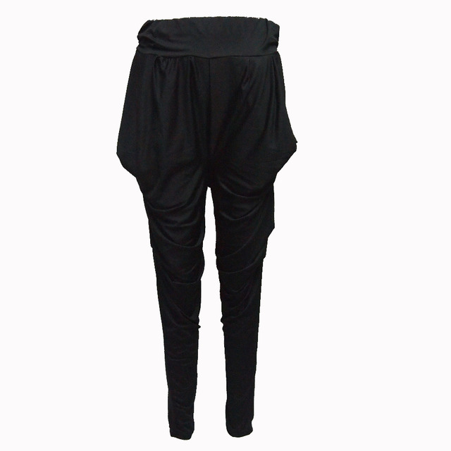 Kids Adult Spring jazz Skinny pencil Sweatpant Costume wear Exclusive Solid Black Patchwork harem Hip Hop Dance Pants