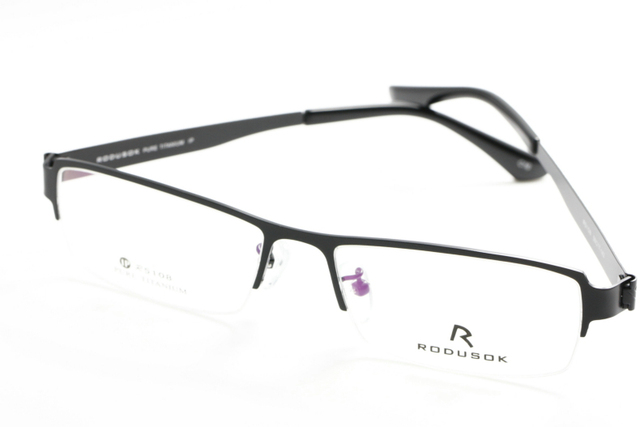 9b5871aa75 Unisex Titanium Rectangle Half Rim Glasses Frames Lightweight Prescription  Eyeglasses Myopia eyewear Simple Fashion IPR510801 U