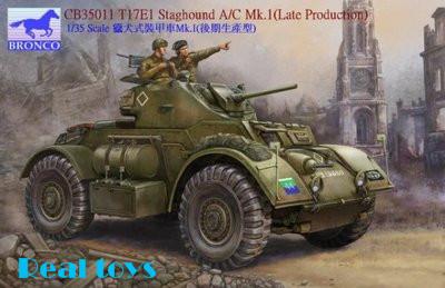 Modelo Bronco CB35011 1/35 T17E1 Staghound A / C mk. Eu tarde veículos blindados kit modelo de plástico
