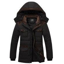 Мужские зимние большой ярдов плюс бархат утолщение куртка мужская мода С Капюшоном тепловой хлопка