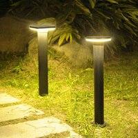 Thrisdar 라운드 야외 정원 통로 잔디 빛 알루미늄 풍경 잔디 램프 방수 마당 공원 잔디 기둥 빛