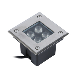 IP66 wodoodporny kwadratowych 4 W AC85 265V 3 W LED Outdoor Ground ścieżka ogrodu piętro podziemne pochowany lampa ogrodowa miejscu światło krajobrazu w Lampy podziemne LED od Lampy i oświetlenie na