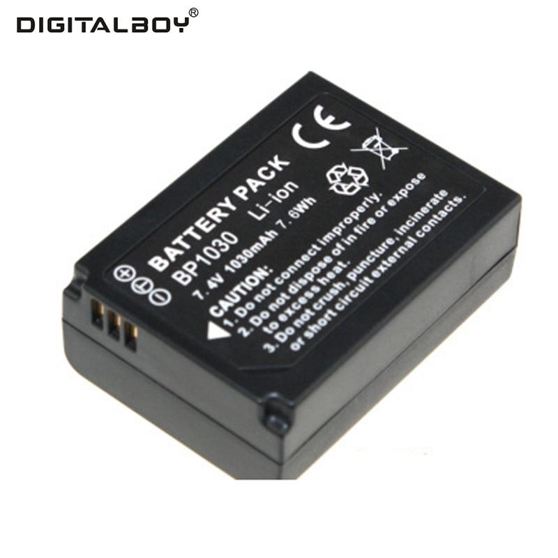 Venta caliente 1030 mAh 7.4 V 1 unids batería bp1030 BP 1030 recargable Baterías para cámara para Samsung nx200 nx210 nx1000
