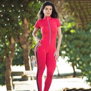 Image 5 - Áo Thun Nữ Tay Ngắn Dây Kéo Miếng Dán Cường Lực Phù Hợp Với Áo Nữ Sportwear Bộ Trang Phục Tập Luyện Quần Áo Phụ Nữ Không Đường May Set Bộ Đồ Thể Thao Thun Tập Yoga