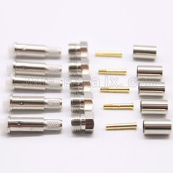 10pcs RF Coaxial Connector FME female Connector Crimp for RG58 RG142 RG400 LMR195 cable free shipping