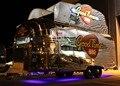 COLGADO SL-6S camiones de comida de Catering móvil Remolque camión de comida de acero Inoxidable configuración de freno Mecánico