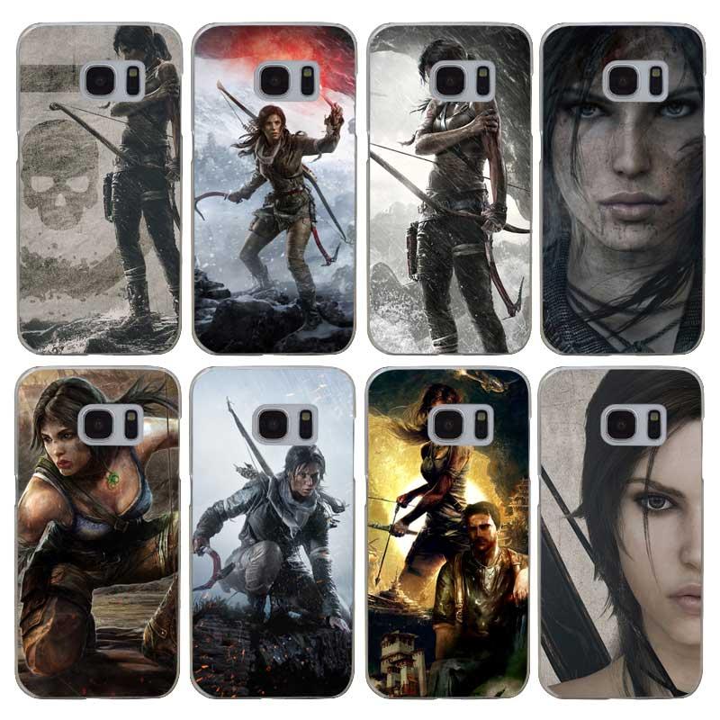 G350 Tomb Raider Прозрачный жесткий чехол для Samsung Galaxy S 3 4 5 6 7 8 мини Edge Plus Примечание 3 4 5 8 ...