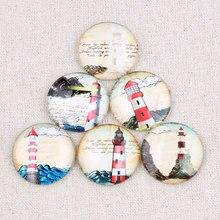 Onwear mix do vintage casa de luz foto rodada de vidro cabochão 30 25 20mm mm mm diy pingente resultados para jóias fazendo