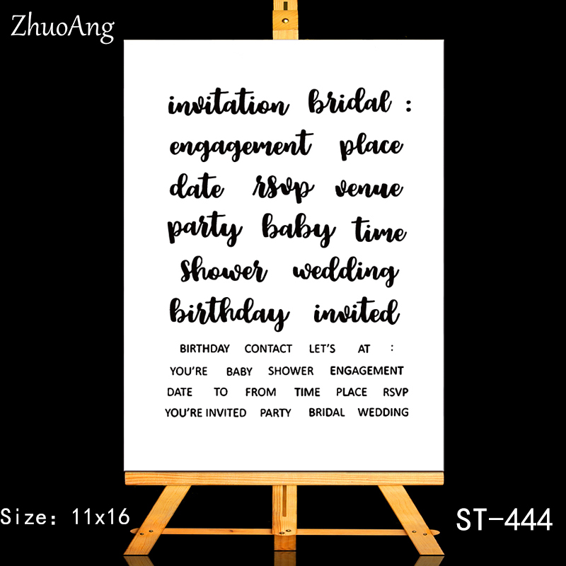 ZhuoAng Wedding Birthday Invitation Clear Stamps Seals For DIY Scrapbooking Card Making Album Decorative Silicon Stamp Crafts in Stamps from Home Garden