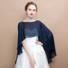 все цены на Soft Chiffon Women Cape High Low Sheer Summer Beach Wedding Wrap Bridal Bridesmaids Cover Up Shawl Soild Color онлайн