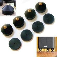 Mayitr 4 шт. черный динамик Спайк 23 мм черное дерево изоляции конус деревянный медь Стенд ноги+ база Pad для динамик