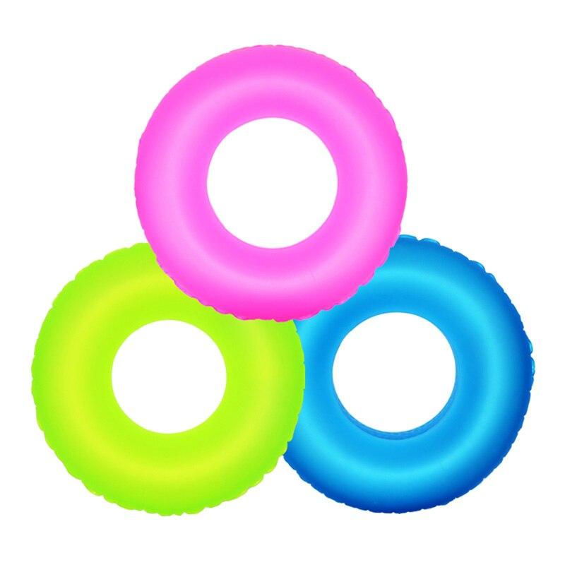 1 Pc Aufblasbare Schwimmen Ring Pool Float Wasser Spielzeug Fluoreszenz Schwimmen Ring Für Kinder Erwachsene Zufällige Farbe Schwimmen Ring Waren Jeder Beschreibung Sind VerfüGbar