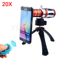 2017 Phone Lens Kit 20x Telescope Optical Zoom Telephoto Lens For Samsung Galaxy note 2 3 4 5 7 s3 s4 S5 S6 S7 edge Case Tripod