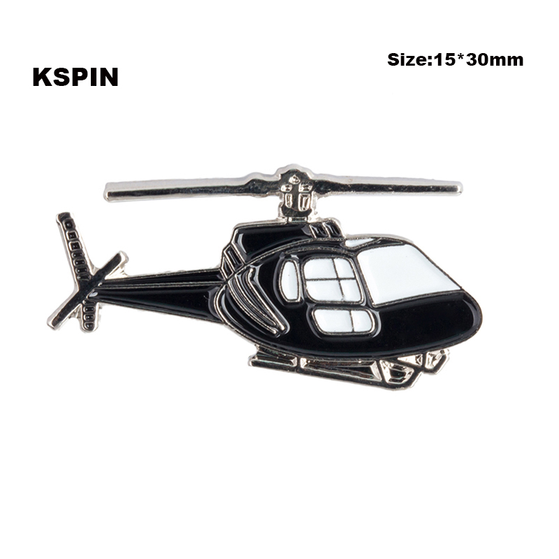 Helicopter Plane Rozet Metal Chapas Metalicas Pins Icon Backpack Brooch for Women/Men XY0071