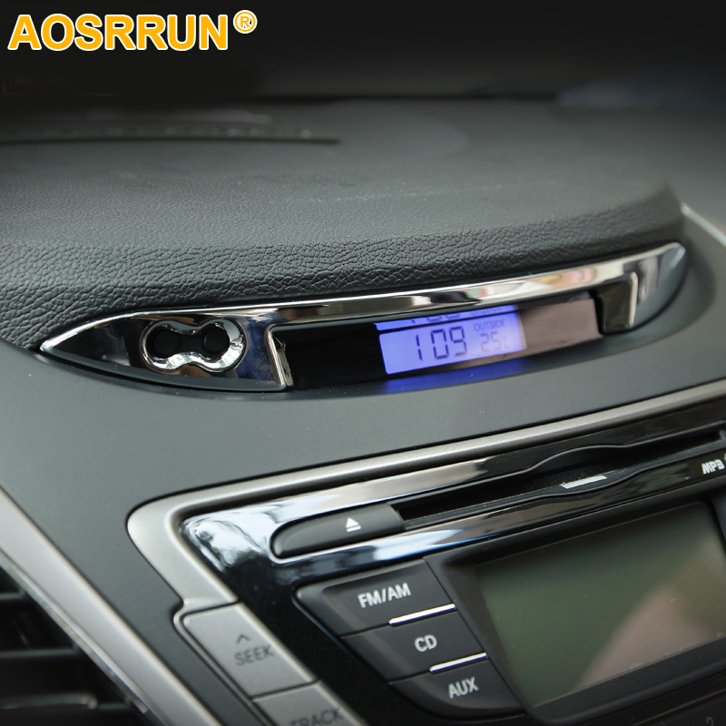 For Hyundai Elantra 2012 2013 2014 2015 2016 Stainless Steel Dashboard Trim Automotive Supplies