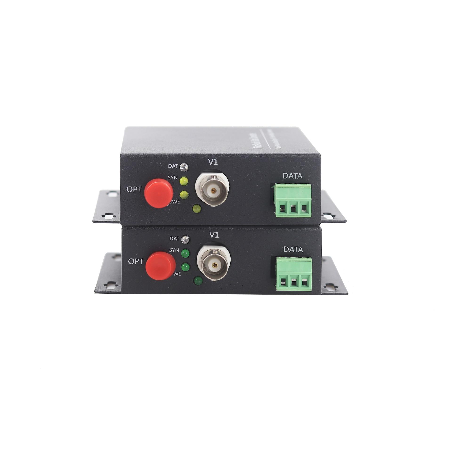 GZGMET 20Km 1 Kanal Video Extender Singlemode LWL Medienkonverter - Schutz und Sicherheit - Foto 2