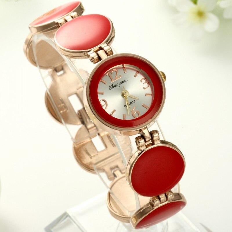 2016 top new brand Chaoyada Cheap Quartz Women Fashion Round Dial Wristwatch Design Watch Top Quality ladies bracelet watch