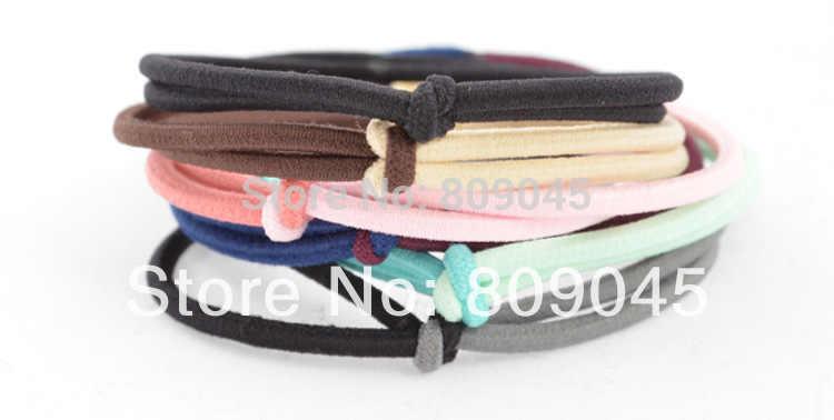 (Pedido mínimo $10) banda de pelo de flores coloridas para mujer/chica soporte de cola de caballo cinta elástica lazos accesorios para el cabello HB05 10 unids/lote