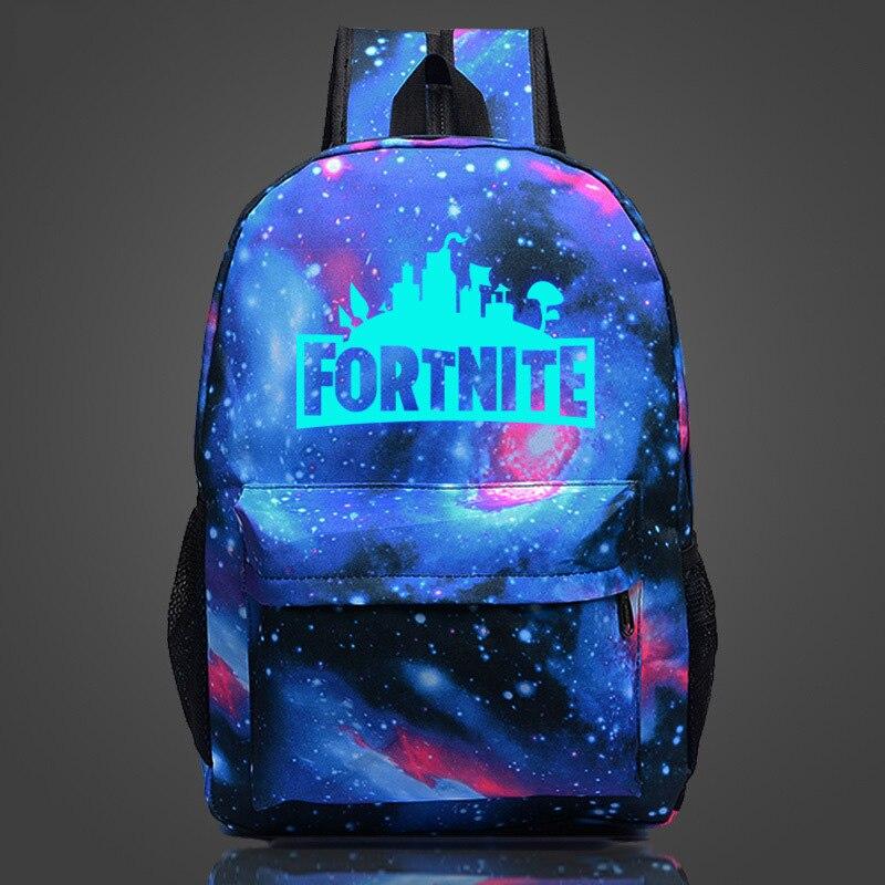 Fortnite Cool Night Luminous Backpack School Bags for Boys and Girls Schoolbags for Teenagers Printing School Bagpack Satchel