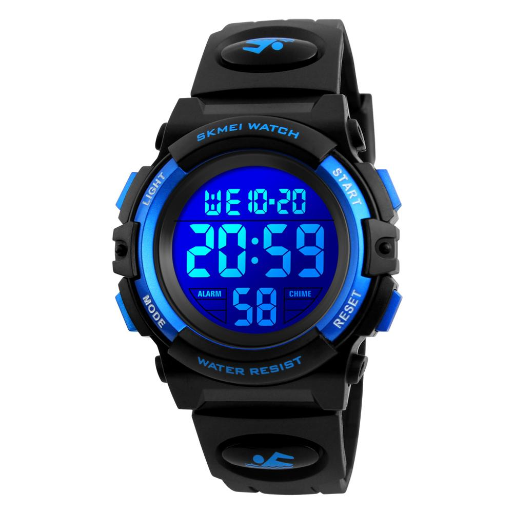 2019 SKMEI Multifunctional Chronograph Sport Watches Children LED Digital Watch 5Bar Waterproof Kids Wristwatches For Boys Girls(China)