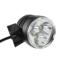 8.4V Waterproof Outdoor Bicycle Light Flashlight Head Light 3 Bulb T6 LED
