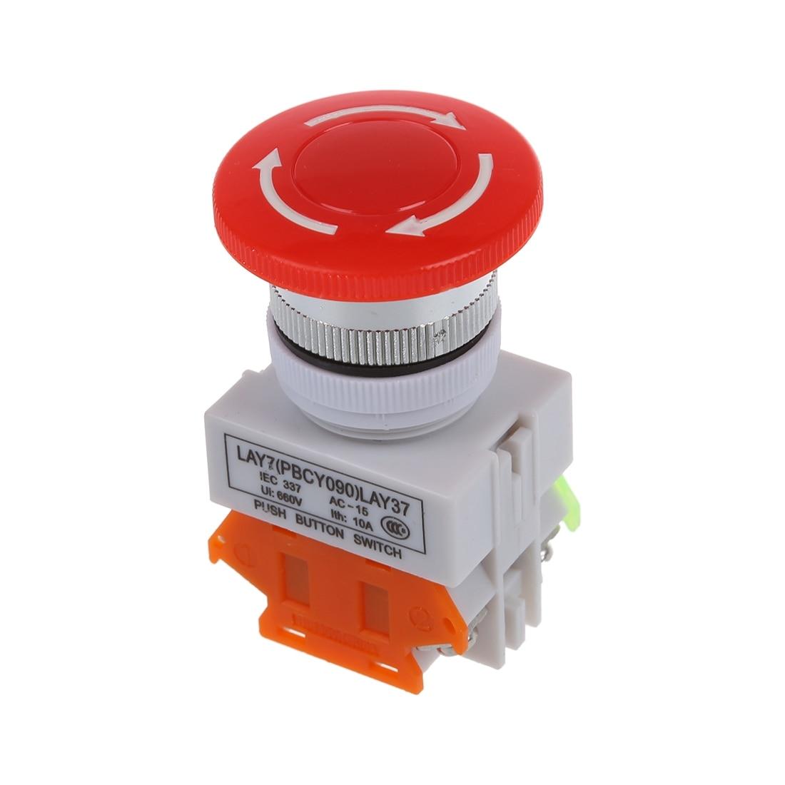 Ui 600V Ith 10A Switch Emergency Stop push button Mushroom