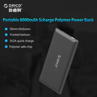 ORICO 8000mAh Power Bank External Battery Portable Mobile Backup Bank Charger For Android IPhones Built In