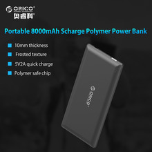 ORICO 8000mAh Power Bank External Battery Portable Mobile Backup Bank Charger for Android iPhones Built-in Polymer Battery