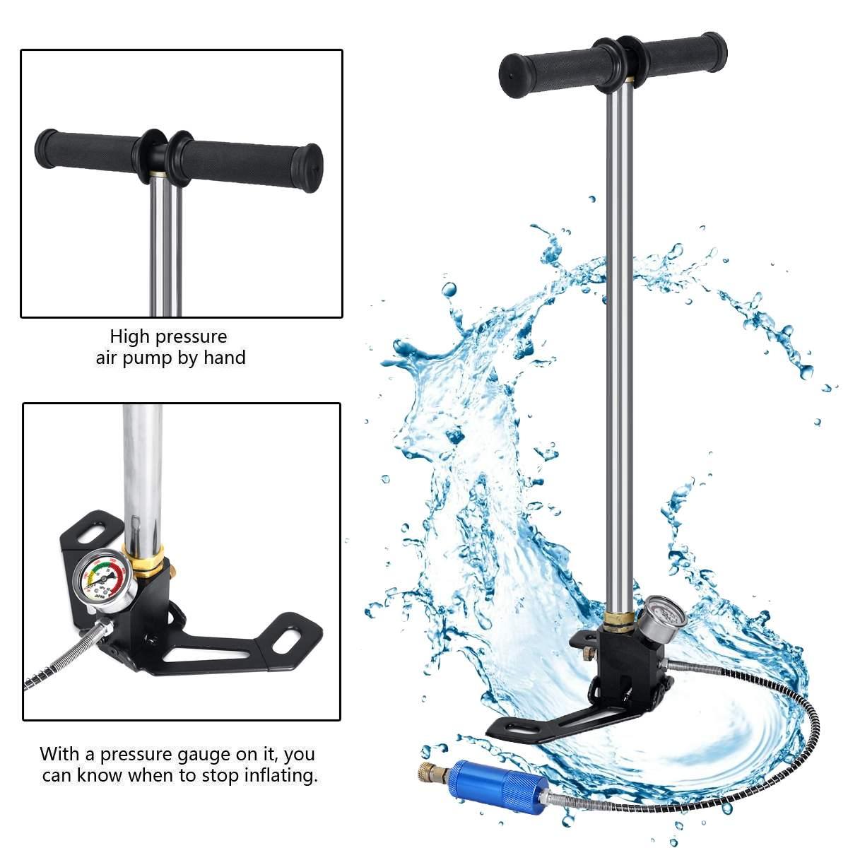 Mini pompe manuelle d'équipement de plongée pour 0.5L Mini réservoir d'air d'oxygène de plongée pour des accessoires de respiration sous-marine de rechange