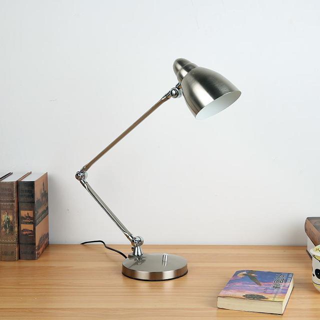 Silver Foldable Led Reading Lamp Office Work table light Study table desk lighting student learning lights bedroom led Lampara