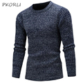 2016 autumn winter pullover sweater men slim fit o-neck knitting Mens Sweaters Man Pullover Solid Bottoming Sweaters Multi-Colo