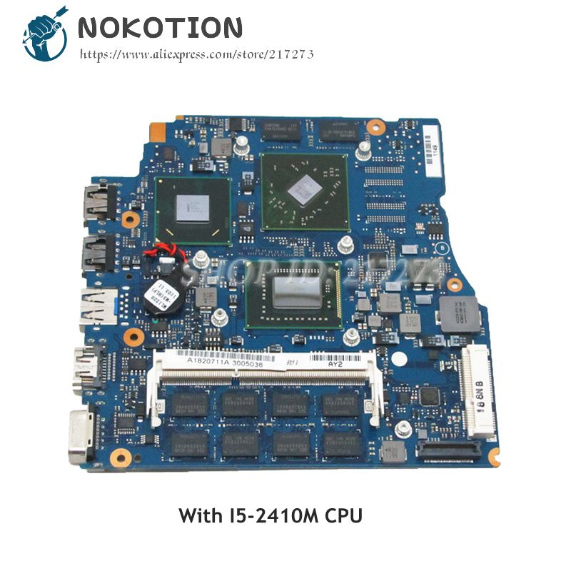 NOKOTION For Sony VPCSB Laptop Motherboard 13 inch A1820711A MBX-237 1P-0111200-A013 <font><b>I5</b></font>-<font><b>2410M</b></font> CPU 4GB RAM HD6470M 512MB image