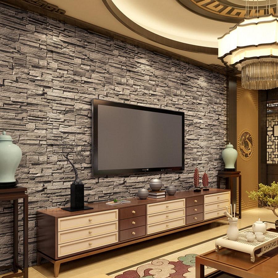 Parete soggiorno mattoncini idea creativa della casa e for Caratteristiche di design della casa