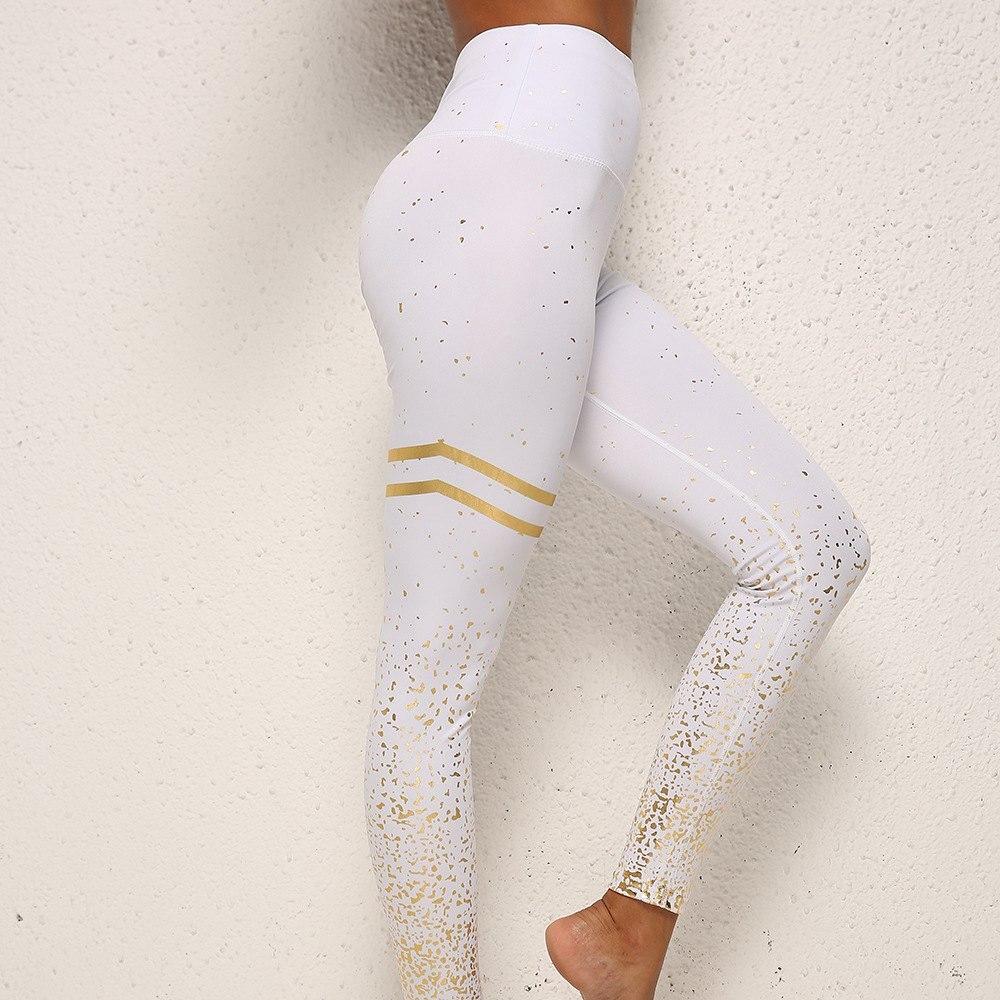 2019 Summer Fashion Women Fitness Leggings For Running High Waist Hot Stamping Outdoor Female Legging Workout Sports Pants