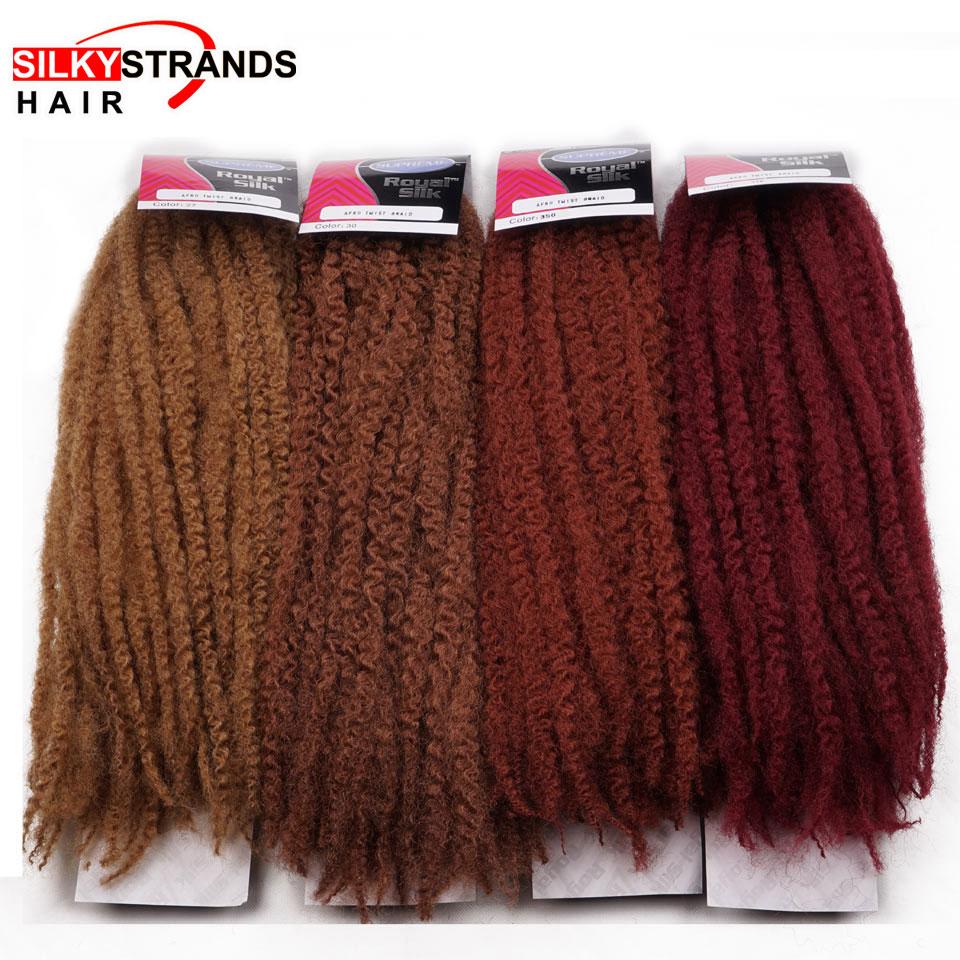 Silky Strands Marley Braids Hair Extension Synthetic Ombre Afro Kinky Crochet Braiding Hair Crochet Braids Bulk 18inch