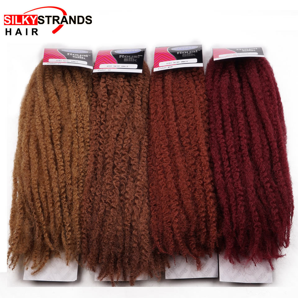 Silky Strands Marley Braids Hair Extension Synthetic Ombre