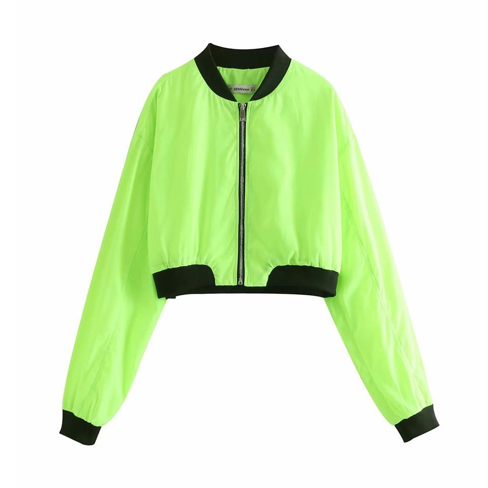 Women Fashion Short   Basic     Jackets   Coats 2019 Spring Summer Long Sleeve Patchwork Zipper Ladies Casual Slim Thin   Jacket   Outerwear