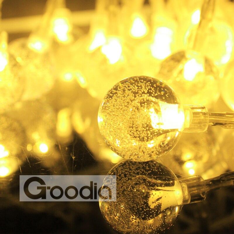 Baterija Božićna svjetla 175 inča 40 LED svjetla String kristalna - Rasvjeta za odmor - Foto 5