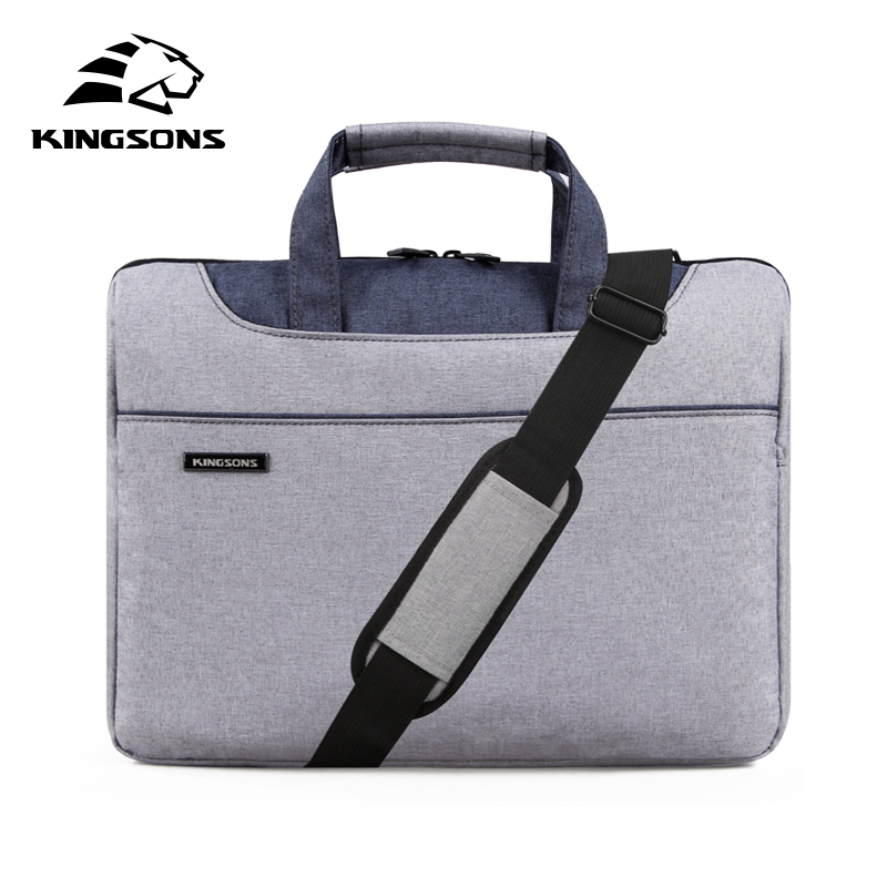 Kingsons High Quality Laptop Handbag for Men and Women Travel Bussiness Notebook Bag Large Capacity 11 13 14 15 Inch Computer kingsons 2017 large capacity 15 6 inch laptop backpack men business bag women school travel rucksack high quality daily pack