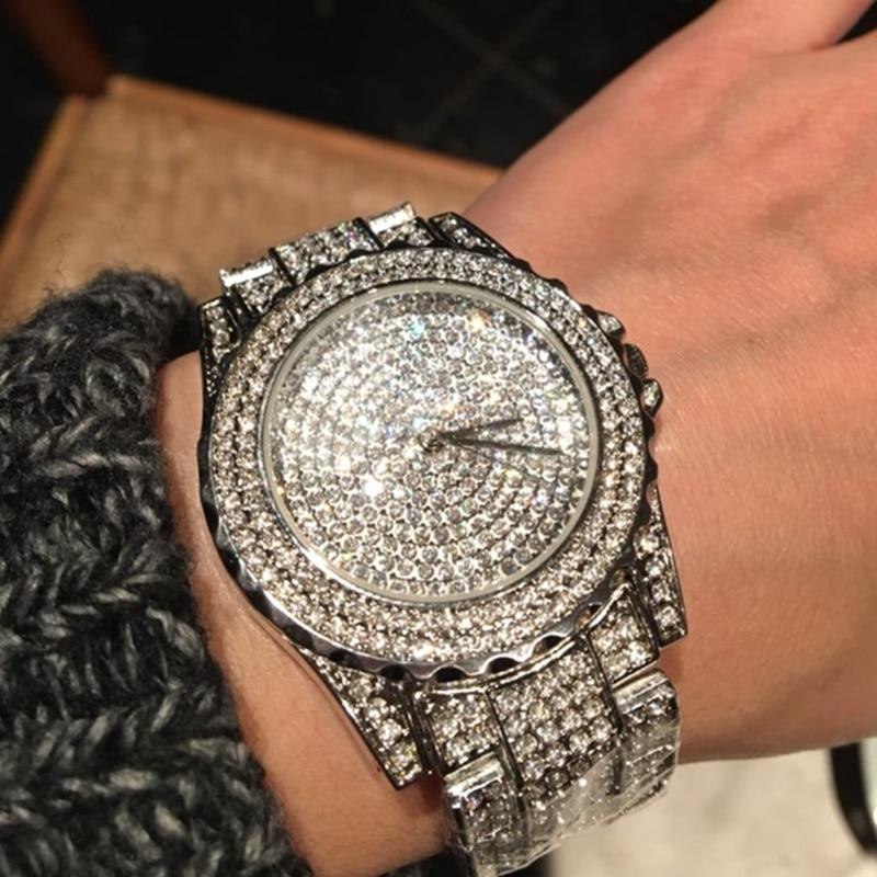 2020 New Arrival Luksusowe zegarki damskie Rhinestone Kryształowy - Zegarki damskie - Zdjęcie 6