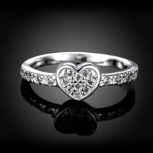 Подарок на день матери, оригинальное циркониевое кольцо в форме сердца, 925 ювелирные изделия, модные кольца в виде сердца для женщин, свадебные ювелирные изделия