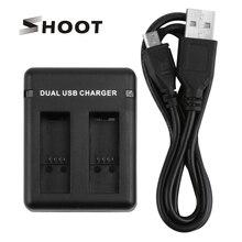 SHOOT Dual/Three port Slot AHDBT-501 зарядное устройство для GoPro Hero 8 7 6 5 Black Cam с usb-кабелем для Go Pro Hero 8 аксессуар