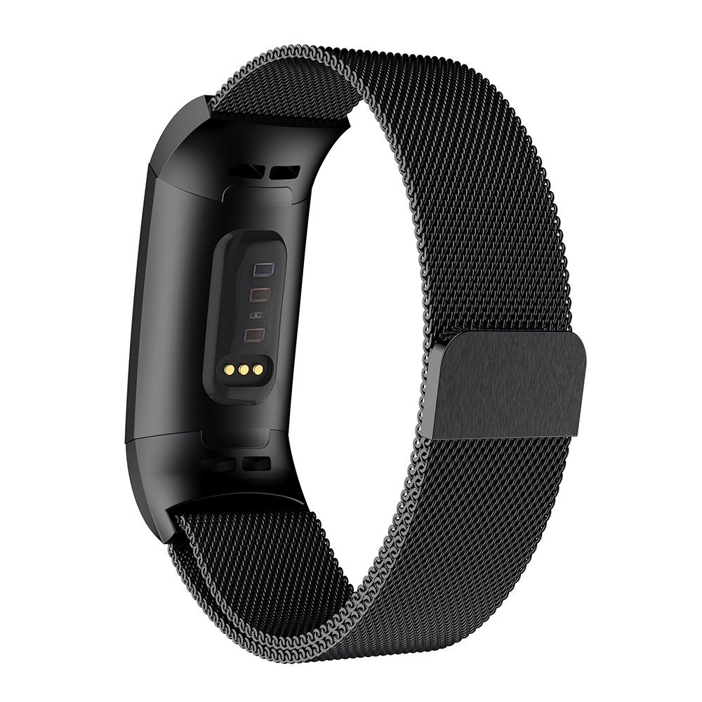 Milanese Loop Watchband For Fitbit Charge 3 strap with connector Stainless Steel Wristband Bracelet belt Metal Watch Band Strap in Smart Accessories from Consumer Electronics