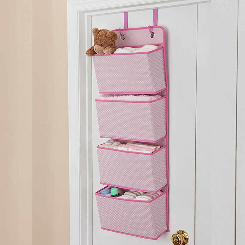 yer multi-layer dustproof storage bag Multiple Pockets Storage Home Decor Hanging Bag Wall Mounted Door Pouch Room Organizer